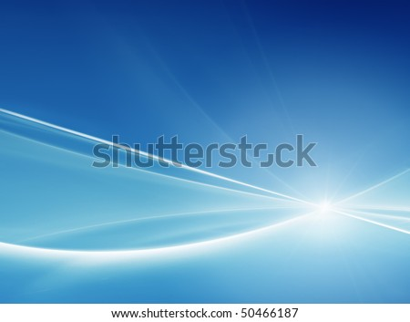 Blue abstract background - stock photo