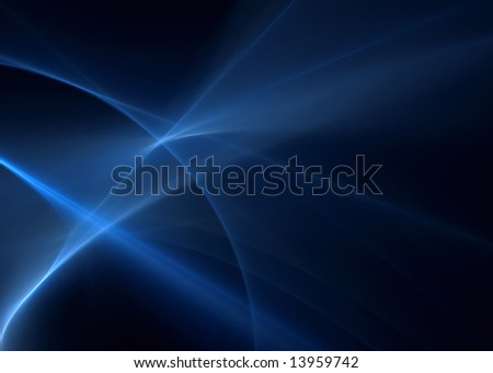 Blue abstract background:3D rendered fractal. - stock photo