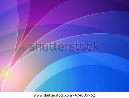 Blue abstract background for business card, banner or template. Background with waves. Illustration of abstract background with bright element