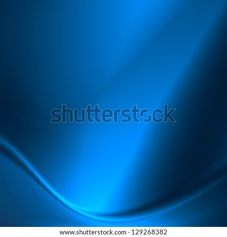 blue abstract background smooth metal plate as square banner template - stock photo