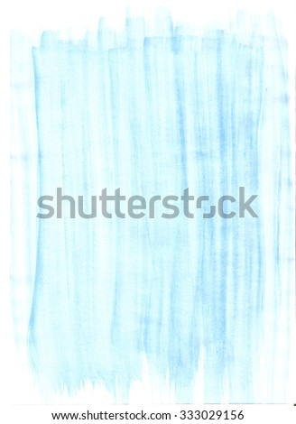 Blue abstract background texture with paint brush strokes - stock photo