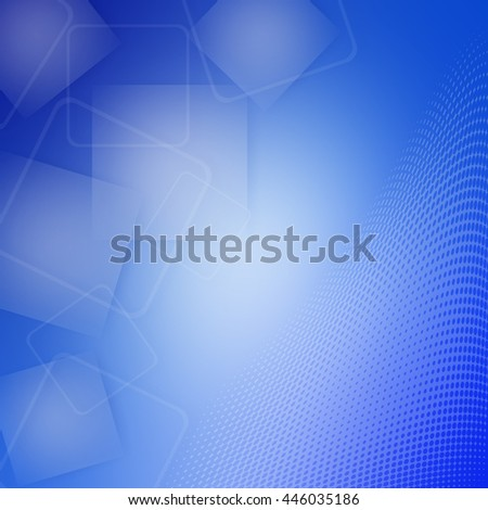 Blue Abstract background with square