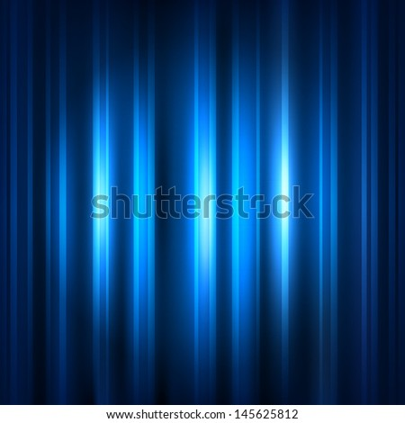 Blue abstract background with strips and patches of light. The idea for the business card. Raster copy  - stock photo