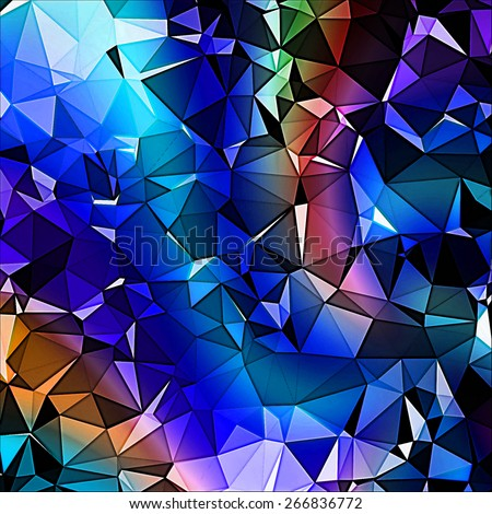 blue Abstract background with triangle pattern - stock photo