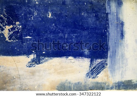 Blue abstract brushed surface. Vintage effect. - stock photo