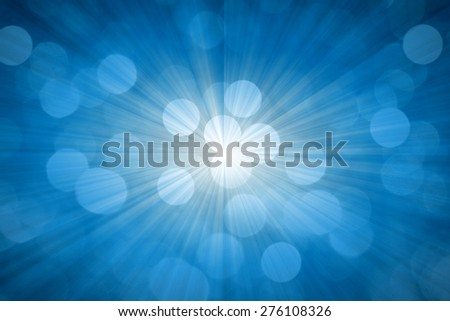 Blue Abstract Defocused Background - stock photo