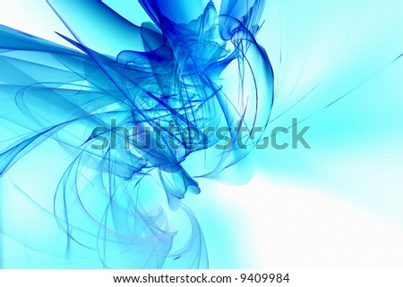 Blue abstract fluid background - stock photo