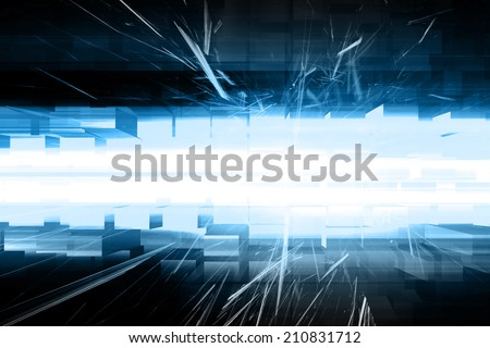 Blue Abstract Futuristic Background - stock photo