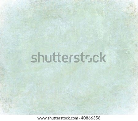 blue abstract grungy textured wash with faded edge - stock photo