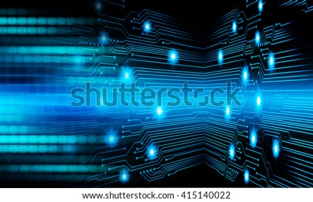 Blue abstract hi speed internet technology background illustration. eye scan virus computer. motion move. - stock photo