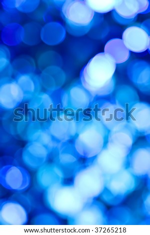 Blue Abstract Lights. Unfocused Light background Series. - stock photo