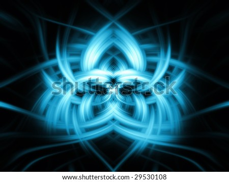blue abstract mirror background - stock photo