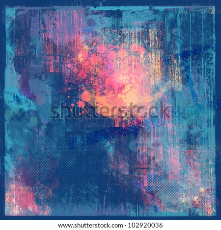 Blue abstract ptexture with purple accents - stock photo