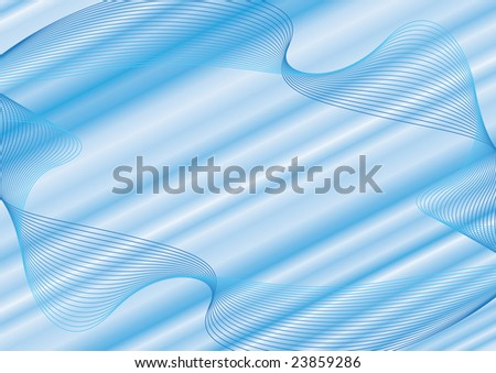 Blue abstract raster background - stock photo