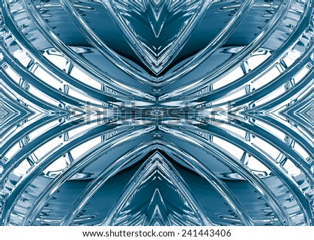 Blue abstract shape pattern for backgrounds or fills - stock photo