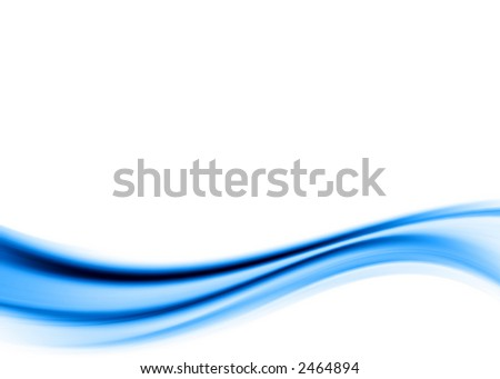 blue abstract wave - stock photo