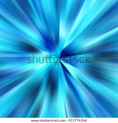 Blue Abstract Zoom Motion background - stock photo