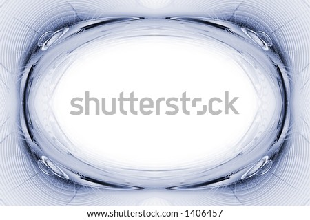 Blue abstraction frame - stock photo