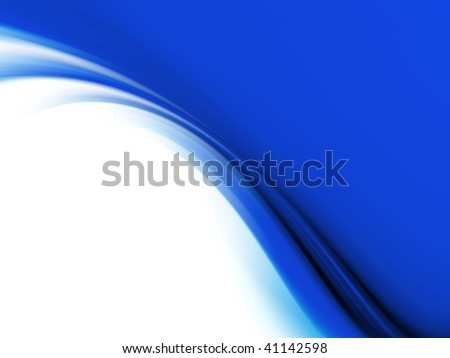 blue abstraction or border. - stock photo