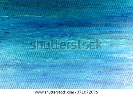 blue acrylic paint texture - stock photo