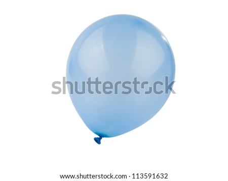 blue air ball isolated on white background - stock photo