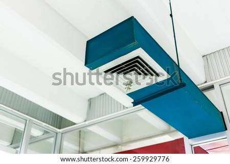 Blue air vent  - stock photo