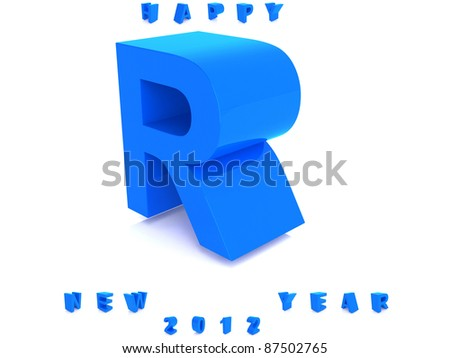 Blue alphabet isolated