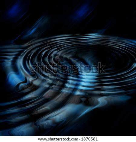 Blue and black rippled abstract background or texture. - stock photo