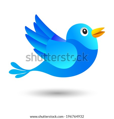 Blue and funny  bird