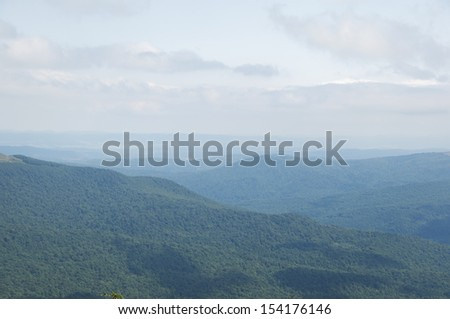 blue and green mountains - stock photo
