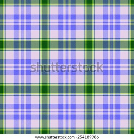 blue and green Tartan textile seamless background  - stock photo