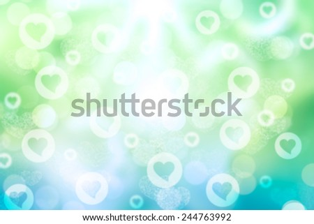 blue and green valentine sparkle bokeh background or bokeh wallpaper