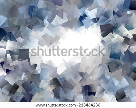 Blue and Grey Abstract Design - stock photo