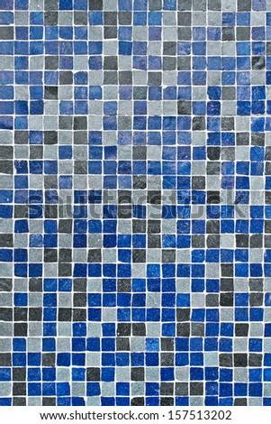 Blue and grey square mini tiles as a detailed background - stock photo