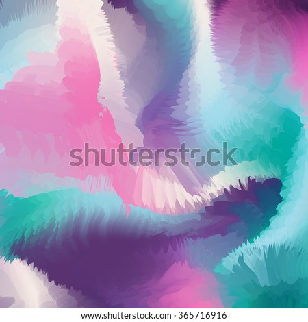 Blue and pink colorful abstract painted artistic background, modern design. Abstract frosty painted watercolor like background. - stock photo