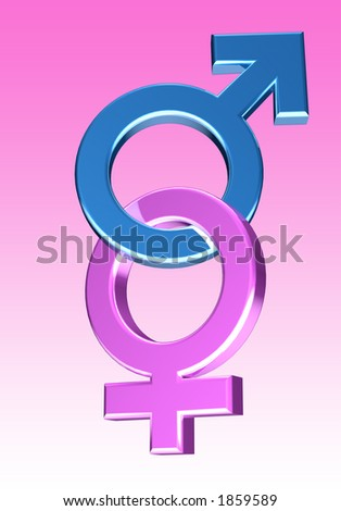 Blue and pink Male/female symbols