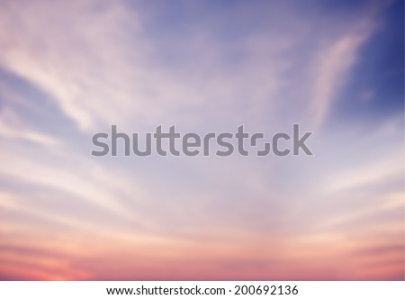 Blue and Pink Sky Background  - stock photo