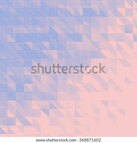 blue and pink triangular abstract background. raster version - stock photo