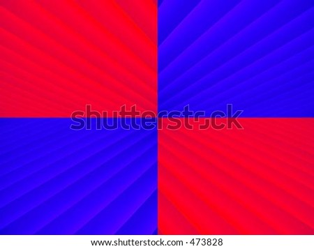 Blue and red striped background pattern - stock photo