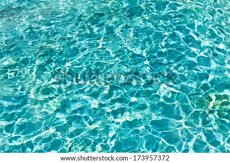 Blue and transparent sea water texture pattern - stock photo