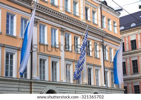 blue and white bavarian flags