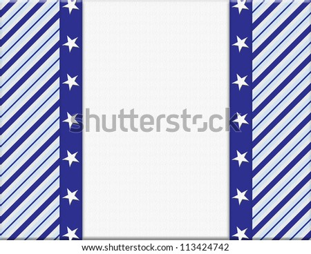 Blue and White celebration frame with stars for your message or invitation with copy-space in the middle