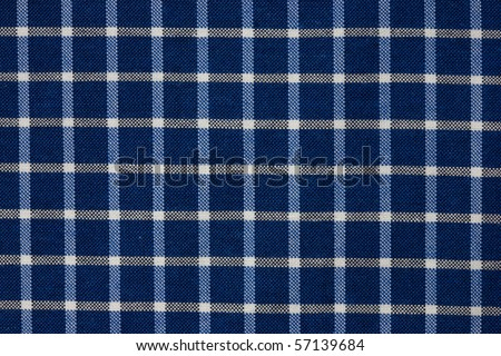 blue and white checkered pattern fabric - stock photo