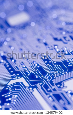 Blue and white Electronic board for computer