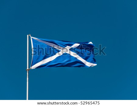 Blue and white flag of Sweden. - stock photo