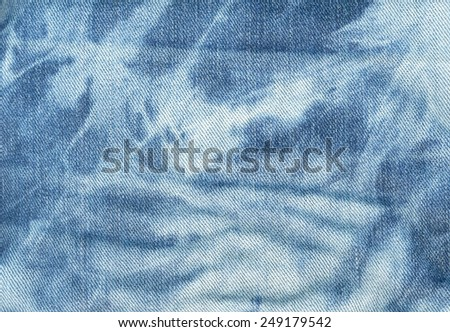 Blue and white jeans texture background. Boho, bohemian, retro, grunge, vintage style  - stock photo
