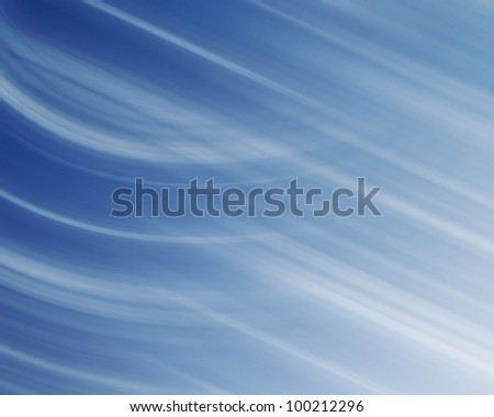 Blue and white linear background with straight and curved lines. - stock photo