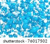 Blue and white orbs isolated over white background - stock photo