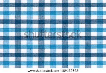 Blue and white tablecloth background - stock photo