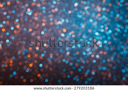 Blue and yellow lights bokeh background - stock photo